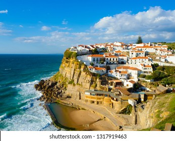 Azenhas do Mar, a beautiful coastal town in the municipality of Sintra, Portugal.
