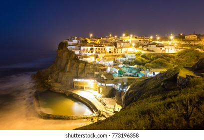 Azenhas do Mar at night