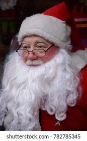 Azerbaijan, Baku, December 20,12.2017: Santa Claus, who is part of the Christmas holiday in Baku, capital of Azerbaijan