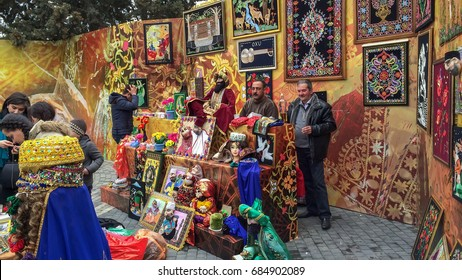 Azerbaijan, Baku, March  21, 2017. Festive fair on Novruz holiday