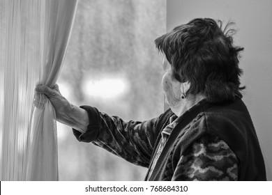 Azerbaijan, Baku, October 15, 2017: Older woman in a nursing home located in Baku's Bilgah settlement