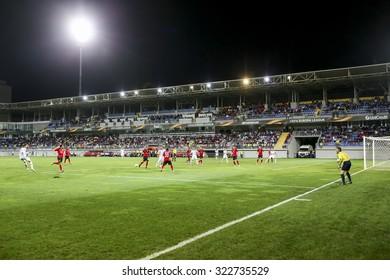Azerbaijan, Baku - September 17, 2015: UEFA Europa League game between Qabala and PAOK, in Baku, Azerbaijan.