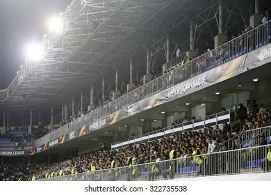 Azerbaijan, Baku - September 17, 2015: View of the grandstand in UEFA Europa League game between Qabala and PAOK, in Baku, Azerbaijan.