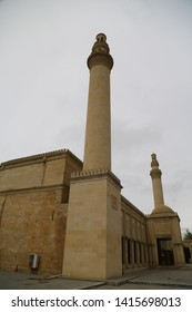 in azerbaijan juma mosque the view of the antique buildings