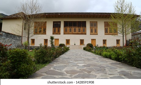 in azerbaijan sheki the old architecture in the town protect by unesco