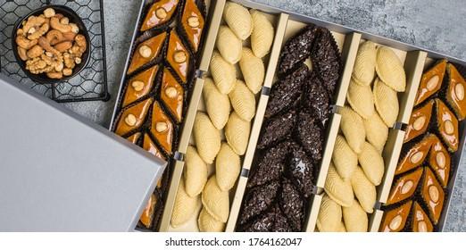 Azerbaijan traditional sweet bakery for folk fest