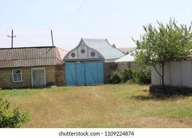 Azerbaijan village yard