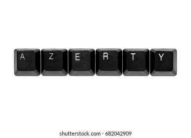 azerty keyboard keys on white background