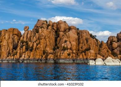 AZ-Granite Dells-Prescott-Watson Lake. This image was taken while sailing on Watson Lake.