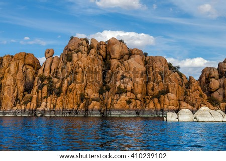AZ-Granite Dells-Prescott-Watson Lake. This image was taken while sailing on Watson Lake.