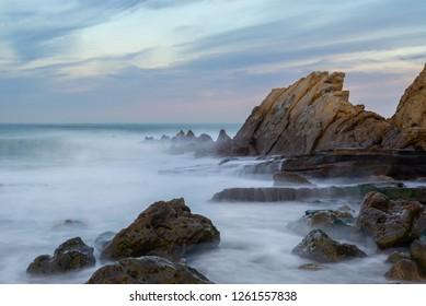 Azkorri beach, Getxo in Vizcaya, Spain