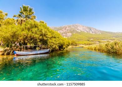 Azmak River in Akyaka Village of Turkey