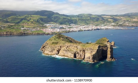 Azores landscape aerial view from 4k licensed drone
