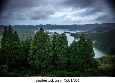 Azores, San-Mig-el island, view from hotel at the top