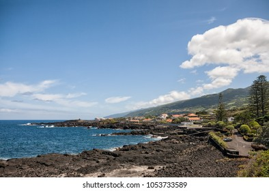 Azores, the shore of the ocean in the town of San Roque do Pico