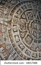 Aztec calendar. Mexican heritage and traditions.
