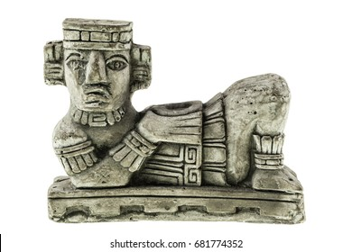 Aztec Chac Mool reproduction isolated over a white background