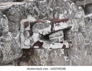 Aztec Serpent Carving (Mexico City, Mexico)