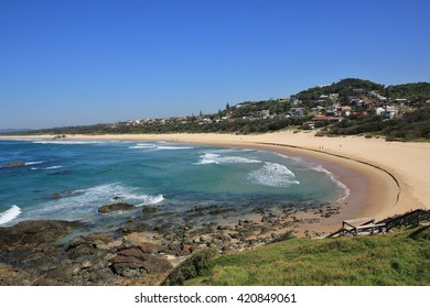 Azure blue pacific and Lighthouse Beach. Travel destination Port Macquarie, Australia.