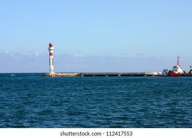 Azure coast of france, light house in Cannes