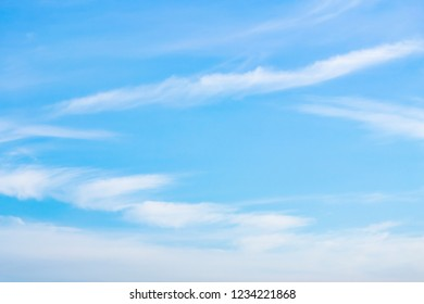Azure sky or sky blue beautiful white clouds in holiday.