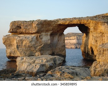 Azure Window, a limestone natural arch near Dwejra, Gozo, Malta, Europe