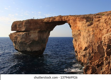 The Azure Window was a natural limestone arch on the island of Gozo, Malta, before it's collapse on 8 March 2017 after heavy storms.