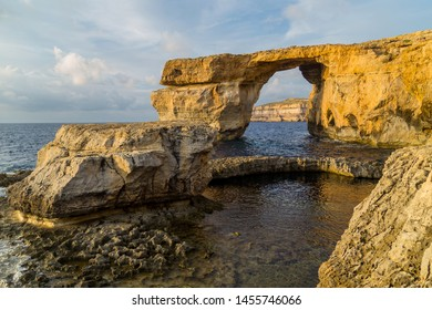 Azure Window, a natural rock arch, west coast, Gozo island, Malta
