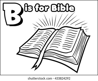 B is for Bible Coloring Activity
