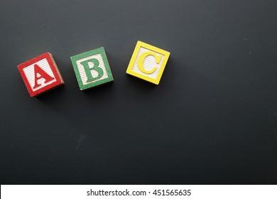 a b c on the blackboard