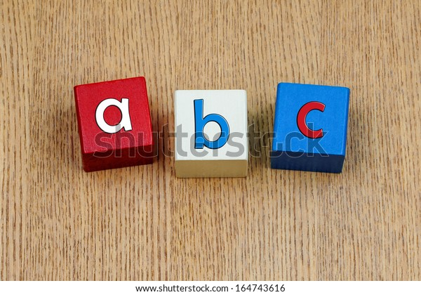 a b c  - sign or design for first letters for school children, learning and teaching - easy as a b c !