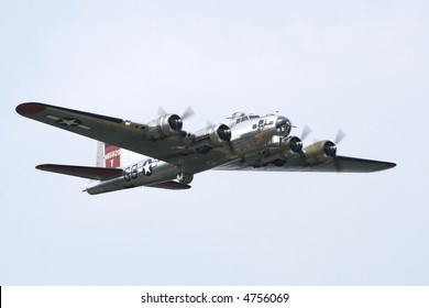 B-17 Flying Fortress performing at an airshow