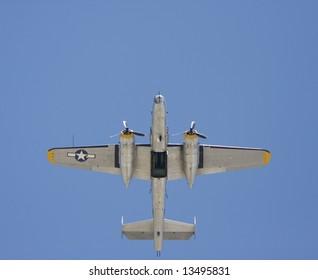 B-25 with bomb bay doors open