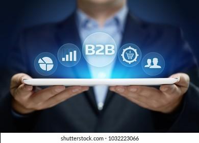 B2B Business Company Commerce Technology Marketing concept.