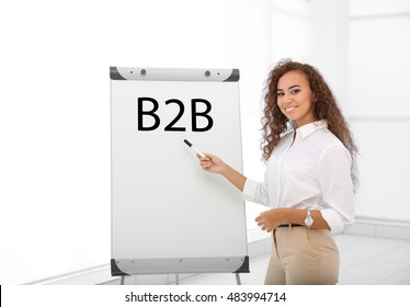B2B business to business concept.