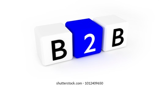 b2b concept, 3d render, 3d illustration