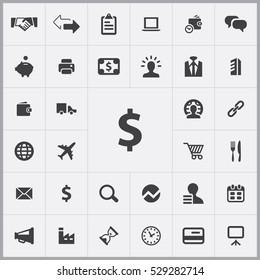 B2B icons universal set for web and mobile