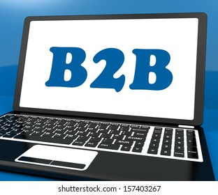B2b On Laptop Showing Trading And Commerce Online