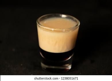 B52 cocktail with kahlua, baileys and cointreau