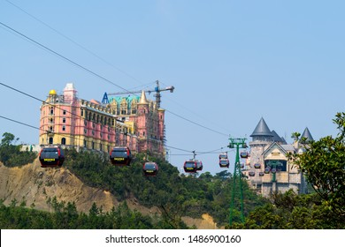 Ba Na Hills mountain resort, Da Nang - March 29,2019 : The newest castle under construction at French village on the top of Ba Na Hills, the famous tourist destination of Da Nang, Vietnam.