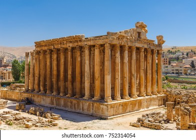 Baalbek Ancient city in Lebanon.Heliopolis temple complex.near the border with Syria.remains