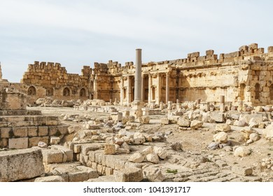 Baalbek, Baalbek-Hermel Governorate, Lebanon - View of the pre-Roman site conquered by Alexander the Great and Roman Ruins in the Bekaa (Beqa) Valley
