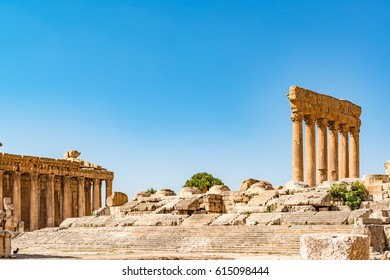 Baalbek, Lebanon - August 14, 2016: Baalbek in Lebanon. Baalbek is located about 85 km northeast of Beirut and about 75 km north of Damascus.