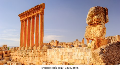 Baalbek, Lebanon. Heliopolis, the City of the Sun. UNESCO World Heritage