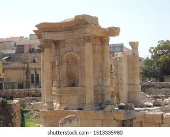 BAALBEK, LEBANON - SEP 01, 2018: Temple of Venus in Baalbek, Lebanon on Sep 01th, 2018