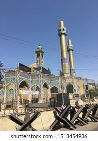 BAALBEK, LEBANON - SEP 01, 2018: Mosque in Baalbek, Lebanon on Sep 01th, 2018