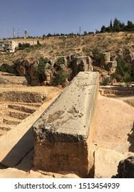 BAALBEK, LEBANON - SEP 01, 2018: Pregnant Woman's Stone in Baalbek, Lebanon on Sep 01th, 2018