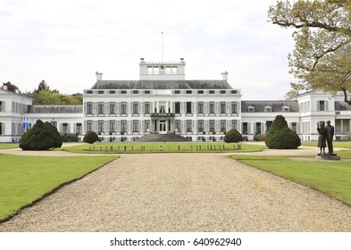Baarn, The Netherlands - May 4, 2017:  Soestdijk Palace, the former residence of the late Queen Juliana of the Netherlands, her husband Prince Bernhard and their children