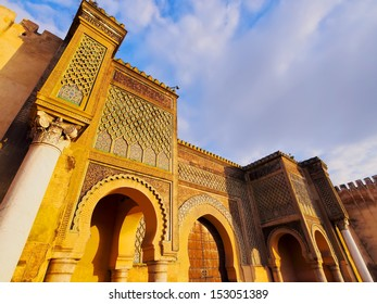 Bab Mansour - beautifully decorated gate of the old medina in Meknes, Morocco, Africa