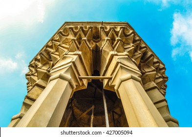 Bab Zuweila towers, a major Islamic religious site in Cairo, Egypt
